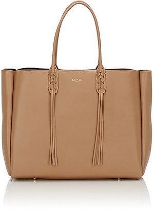 Lanvin Women's Tassel-Handle Extra Large Shopper Tote-NUDE $1,650 thestylecure.com