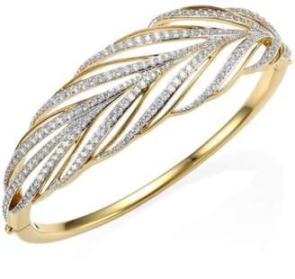 Adriana Orsini Pirouette Leaf Crystal Bangle Bracelet