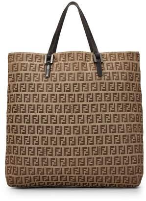 6e99815aba95 Fendi Canvas Tote Bag - ShopStyle
