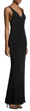 Polo Ralph Lauren Silk & Leather Suspender Maxi Dress $598 thestylecure.com
