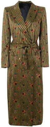 BLAZÉ MILANO mixed-print double-breasted coat