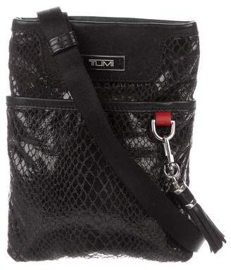 Tumi Embossed Leather Crossbody Bag