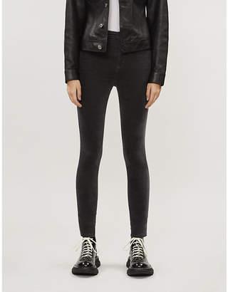 J Brand Leenah skinny velvet high-rise jeans