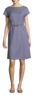 Max Mara Weekend Max Mara Prussia Belted Jacquard Dress