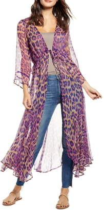 New Friends Colony Hot Shot Leopard Print Duster
