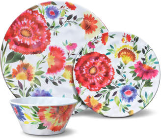 Kim Parker 24 Piece Melamine Dinnerware Set