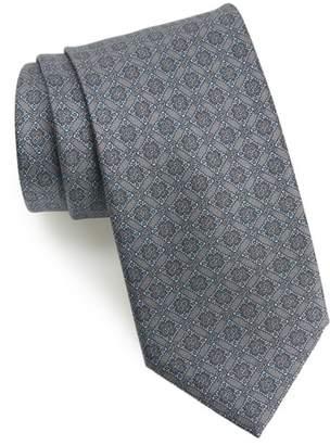Brioni Medallion Geometric Silk Tie