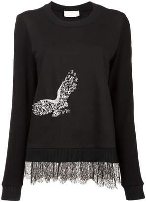 Nicole Miller embellished eagle sweater