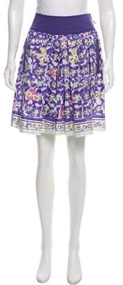 Philosophy di Alberta Ferretti Printed Knee-Length Skirt w/ Tags