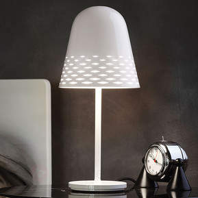 Weiße Designer-Tischleuchte Capri, 40 cm hoch