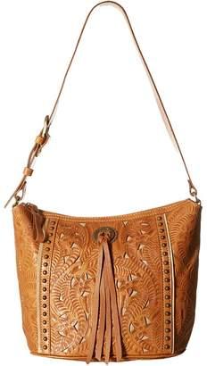 American West Hill Country Zip Top Bucket Tote Tote Handbags