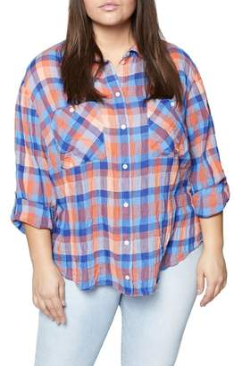 Sanctuary The Steady Boyfriend Plaid Shirt