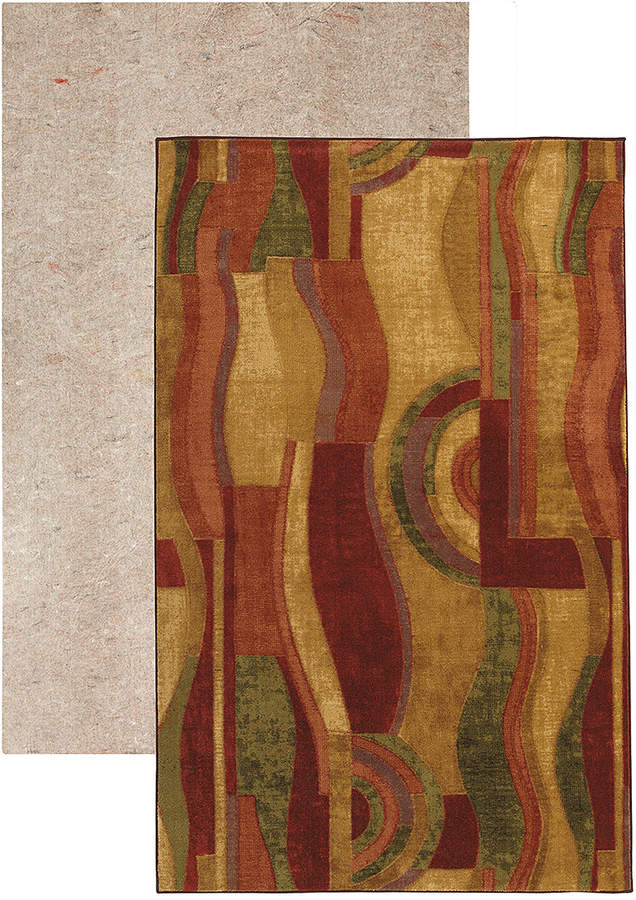 Wine Picasso New Wave Rug & Rug Pad
