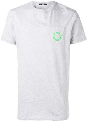 Karl Lagerfeld Paris neon pocket T-shirt