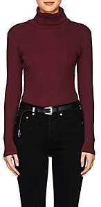 RE/DONE Women's Rib-Knit Cotton Bodysuit - Wine
