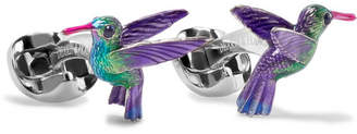 Deakin & Francis Hummingbird Sterling Silver, Sapphire And Enamel Cufflinks