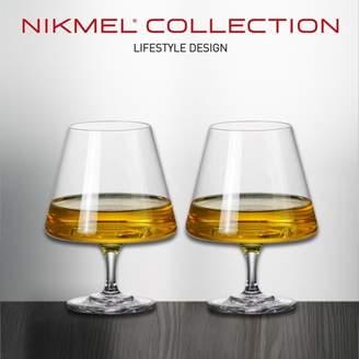 Elegante NIKMEL Lead Free Crystal Metropolitan 20 Oz Brandy/Cognac Snifters 2 pk, E-NM1006