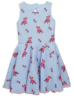 Zoe Girl's Fiona Textured Floral Swing Dress