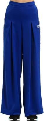 adidas Fashion League Pleated Satin Track Pants