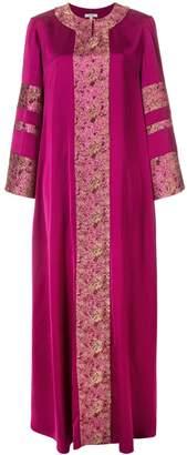 LAYEUR jacquard embelished flared dress