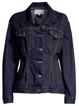 Current/Elliott The Corset Trucket Cotton Denim Jacket