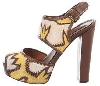 Missoni Jacquard Platform Sandals