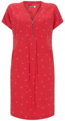 Mint Velvet Kaya Print Zipped Dress