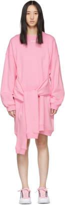 MSGM Pink Mini Logo Sweatshirt Dress