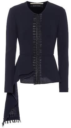 Roland Mouret Greenwood wool crêpe jacket
