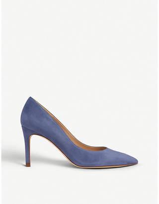 LK Bennett Floret pointed toe suede court shoes