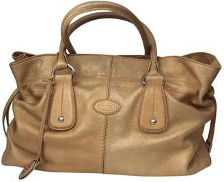 Tod's 100% Authentic Gold Glazed Medium Leather Tote
