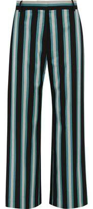 Topshop Beale Striped Satin-Twill Pants