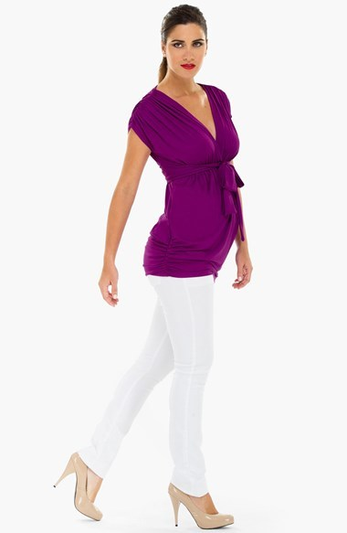 Olian Cinch Front Maternity Top