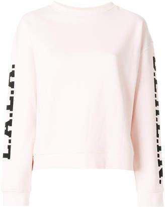 Lala Berlin logo-sleeves sweater
