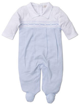 Kissy Kissy Fall Medley Pima Smocked Footie Playsuit, Size Newborn-6 Months