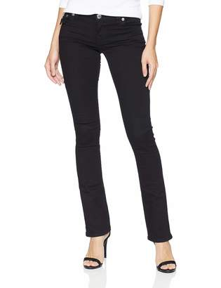 True Religion Women's Straight with Crystal Flap Back Pockets