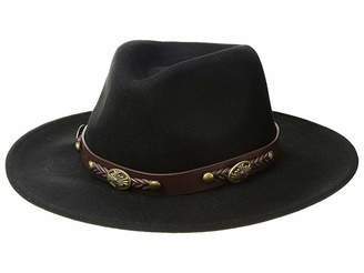 San Diego Hat Company WFH1201 Fedora w/ Faux Leather Western Band