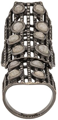 Loree Rodkin embellished armour ring