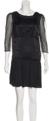 Nina Ricci Silk Pleated Dress