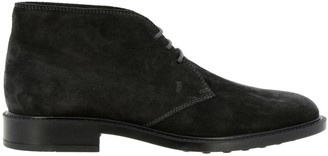 Tod's Tods Chukka Boots Tods Lace-up Suede Chukka Boots With Rubber Bottom