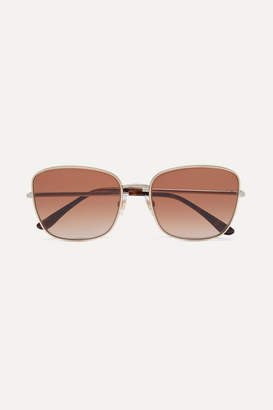 Dolce & Gabbana Square-frame Gold And Silver-tone Sunglasses - one size