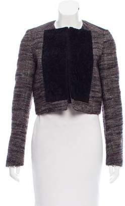 Proenza Schouler Shearling-Paneled Wool Jacket