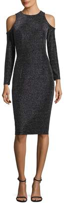 Maggy London Women's Geo Lurex Novelty Sheath Dress