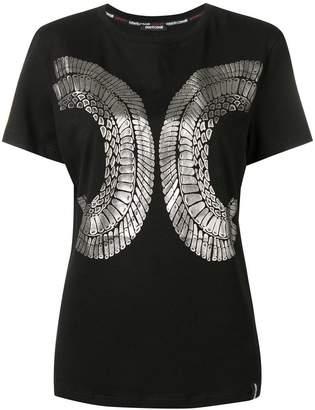 Roberto Cavalli foil print T-shirt