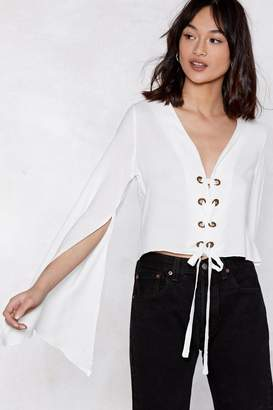 Nasty Gal Pull Out All the Stops Lace-Up Top