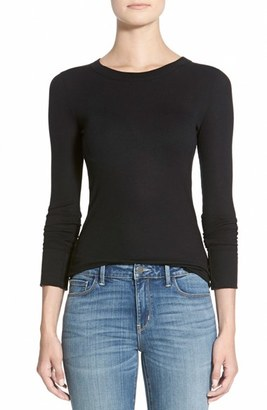 Women's Treasure & Bond Long Sleeve Rib Tee $49 thestylecure.com