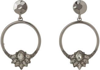Crystal Detail Hoop Earring