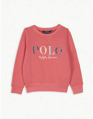 Ralph Lauren Floral logo cotton-blend sweatshirt 2-4 years