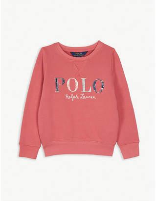 Ralph Lauren Floral logo cotton-blend sweatshirt 2-4 years