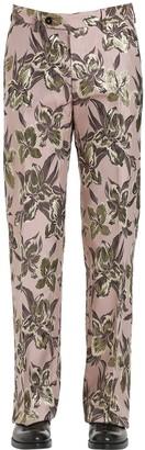 Christian Pellizzari 27cm Lurex Floral Jacquard Pants For Lvr